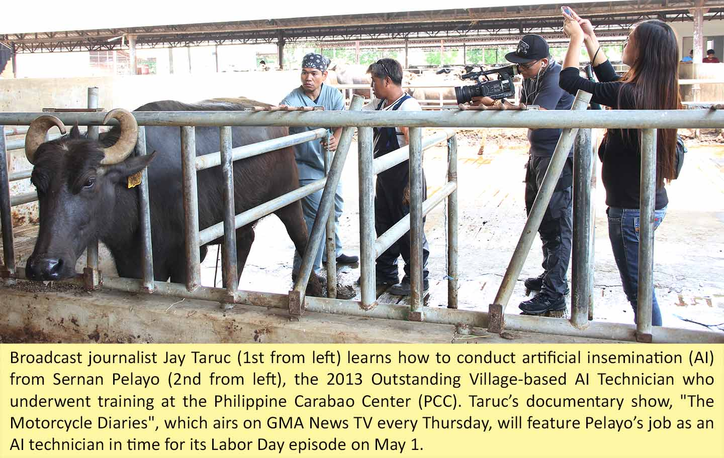 Motorcycle Diaries Features PCC Trained AI Tech Philippine Carabao Center